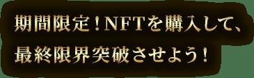 期間限定!NFTを購入して、最終限界突破させよう!