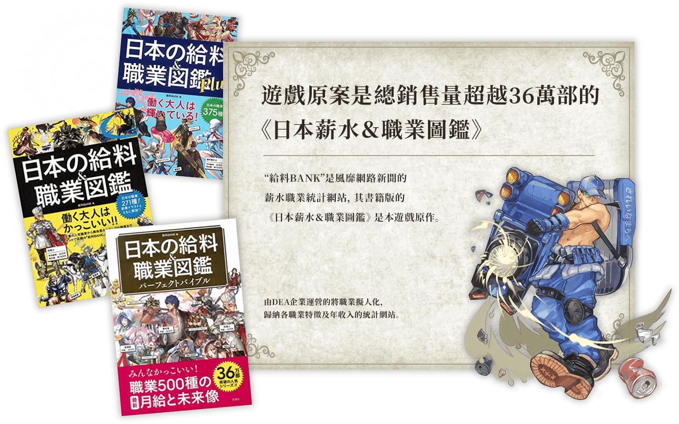 原案は総発行部数36万部以上の「日本の給料&職業図鑑」